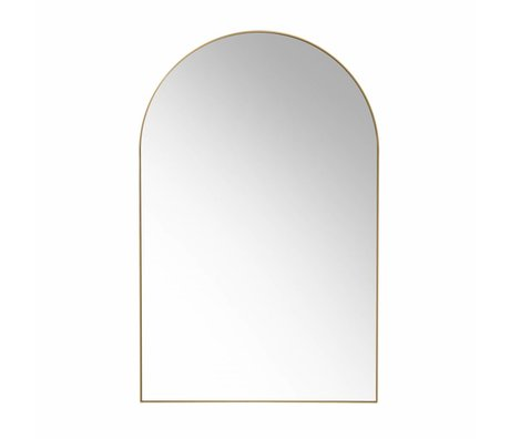 HK-living wall mirror gold brushed brass 92x59.5x2.5cm