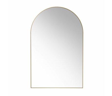 HK-living Wandspiegel gold gebürstet Messing 92x59.5x2.5cm