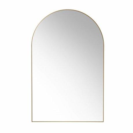 HK-living Wandspiegel Gold Messing gebürstet 92x59.5x2.5cm