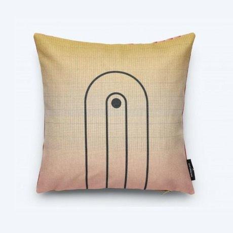 FEST Amsterdam Throw pillow Arch (Fest x Mae Engelgeer) multicolour cotton 45x45cm