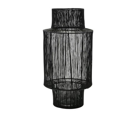 Housedoctor Lantaarn Tabia zwart staal Ø22x45cm