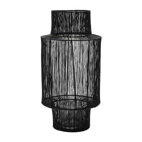 Housedoctor Lantern Tabia black steel Ø22x45cm