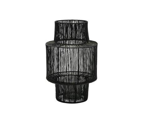Housedoctor Lanterne Tabia acier noir Ø22x35cm