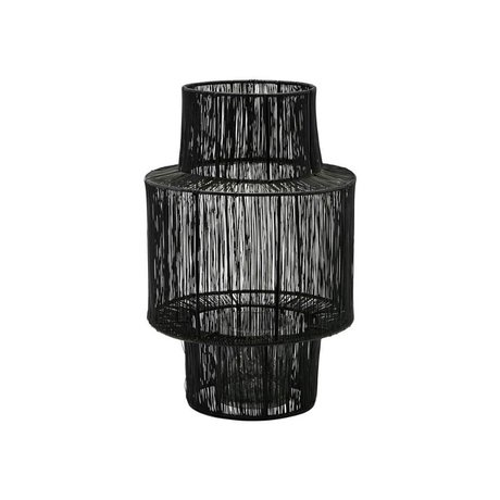 Housedoctor Lantaarn Tabia zwart staal Ø22x35cm
