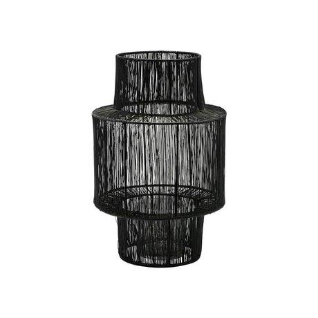 Housedoctor Lantern Tabia black steel Ø22x35cm