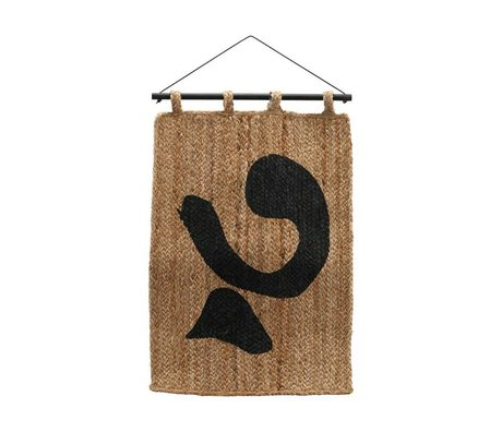 Housedoctor Wallcover Iana brown black jute 50x70cm