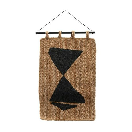 Housedoctor Tapestry Maha brown black burlap 50x70cm