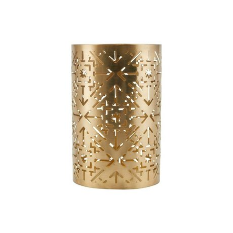 Housedoctor Waxinelichthouder Wilma brass goud ijzer Ø11,5x18cm