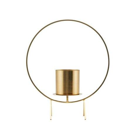 Housedoctor Kandelaar Circle brass goud staal Ø40x48cm