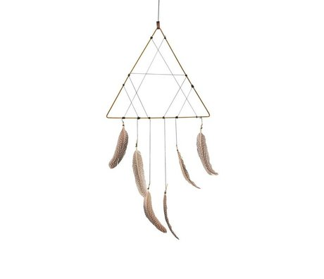 Housedoctor Dreamcatcher gold iron polyester 32,5x65cm