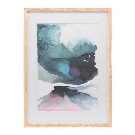 Housedoctor Affiche avec cadre Vulcano multicolore papier bois 39,7x55cm