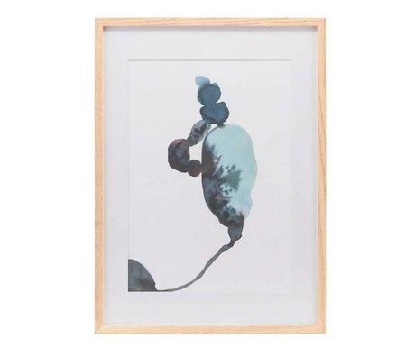 Housedoctor Poster met lijst Climb multicolour papier hout 39,7x55cm