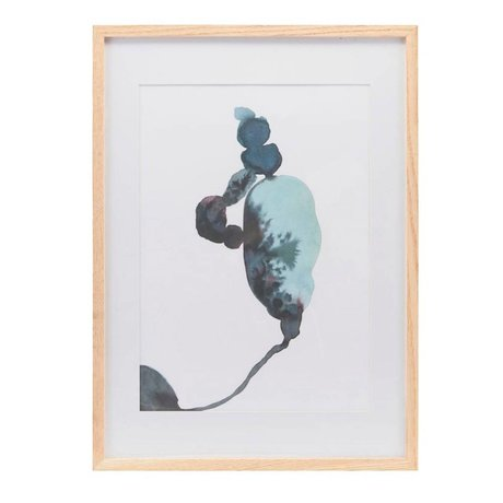 Housedoctor Affiche avec cadre Climb multicolore papier bois 39,7x55cm
