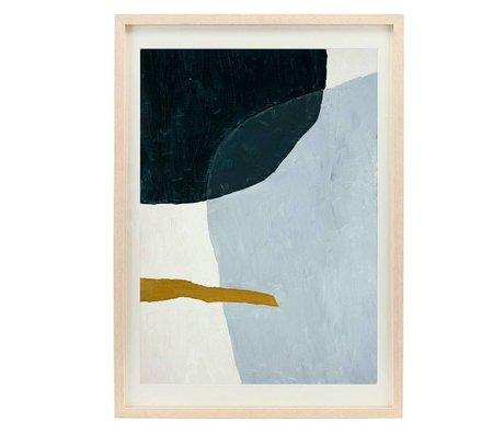 Housedoctor Poster mit Rahmen Künstlerisches Mehrfarbenpapier Holz 50x70cm