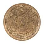 Housedoctor Dienblad Rattan brass goud aluminium Ø20cm