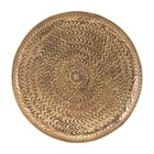 Housedoctor Tray Rattan brass gold aluminum Ø20cm