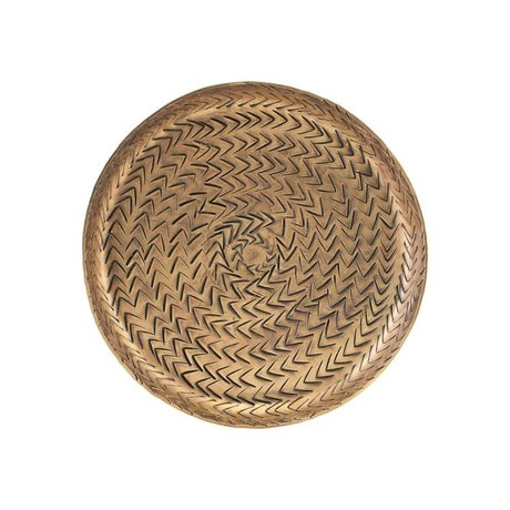 Housedoctor Tablett Rattan Messing Gold Aluminium Ø16cm