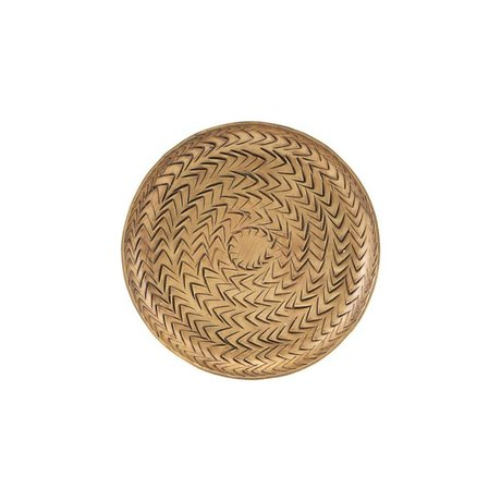 Housedoctor Tray Rattan brass gold aluminum Ø12cm