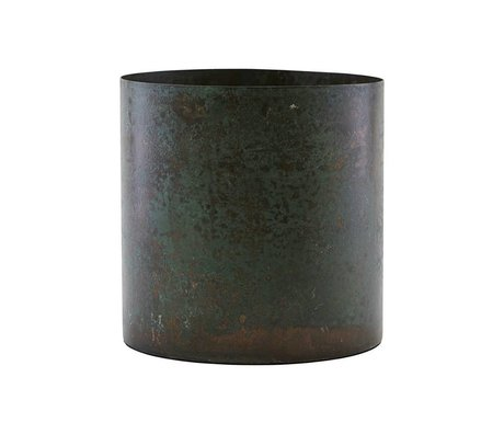 Housedoctor Flowerpot Luba brown steel Ø14x14cm