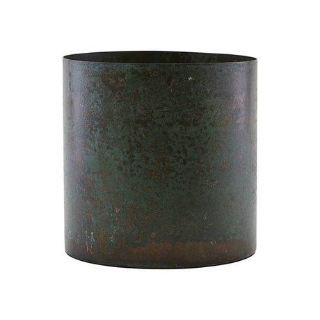 Housedoctor Pot de fleurs Luba en acier brun Ø14x14cm