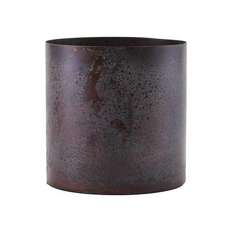 Housedoctor Pot de fleurs Luba bordeaux en acier rouge Ø14x14cm