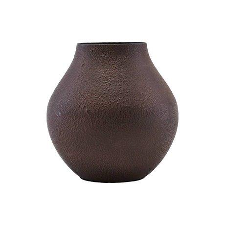 Housedoctor Vase Kojo bordeaux brun acier Ø6,2x12cm