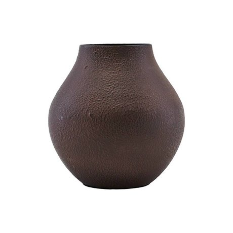 Housedoctor Vase Kojo burgundy brown steel Ø6,2x12cm