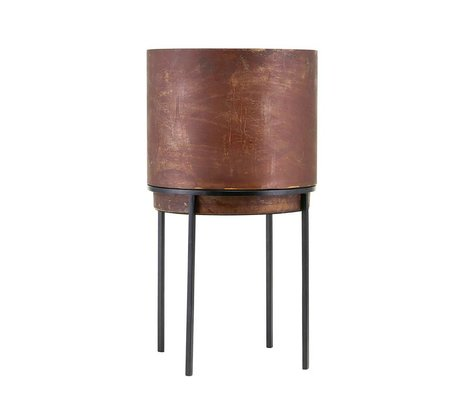 Housedoctor Plant pot Nian rust brown steel Ø25x46cm