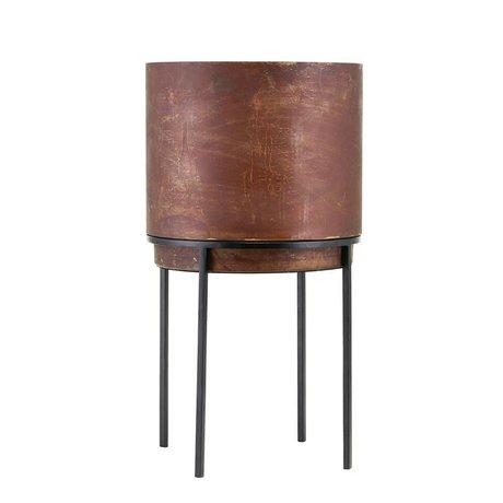 Housedoctor Cache-pot Nian rouille acier Ø25x46cm