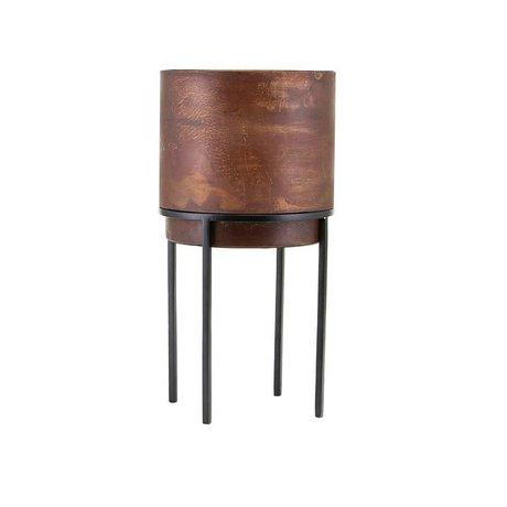 Housedoctor Plantenpot Nian roest bruin staal Ø20x38cm