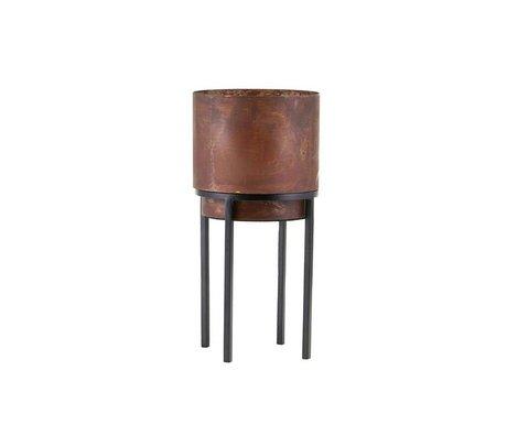 Housedoctor Plant pot Nian rust brown steel Ø15x31cm