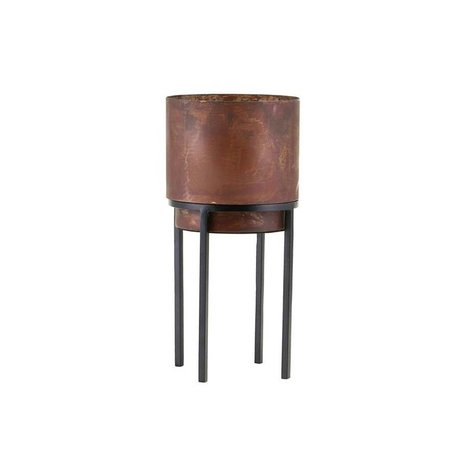 Housedoctor Plantenpot Nian roest bruin staal Ø15x31cm