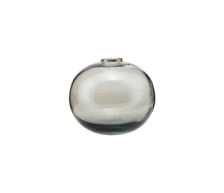 Housedoctor Vase Sandra graues Glas Ø8x6,5cm