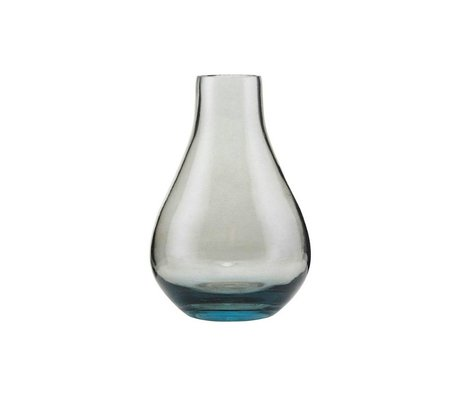 Housedoctor Vase Sandra graues Glas Ø7x11cm