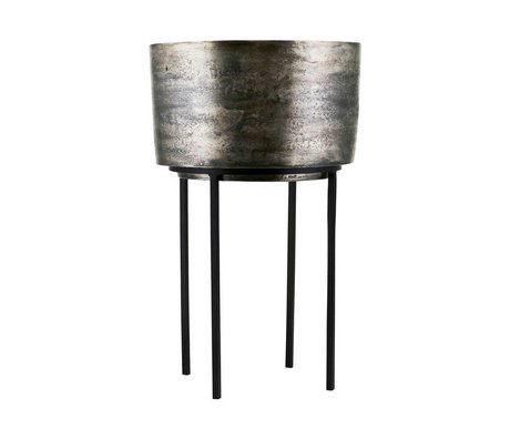 Housedoctor Pflanztopf Kazi Silber Aluminium Eisen Ø33,5x54cm