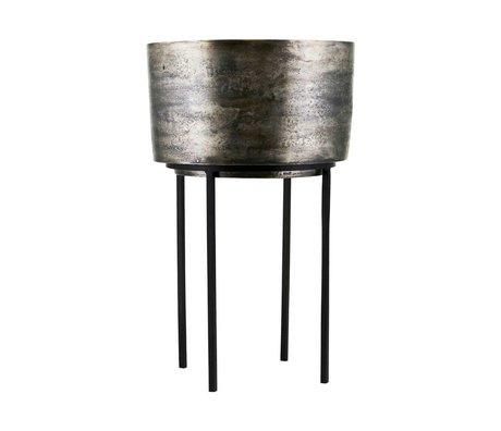 Housedoctor Plant pot Kazi silver aluminum iron Ø33,5x54cm