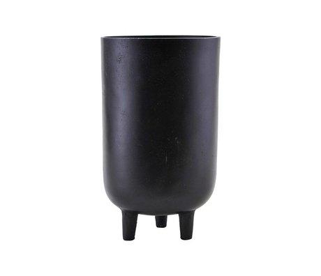 Housedoctor Flowerpot Jang black aluminum Ø15x26cm
