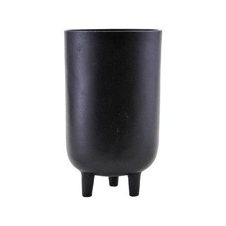 Housedoctor Pot de fleurs Jang aluminium noir Ø15x26cm