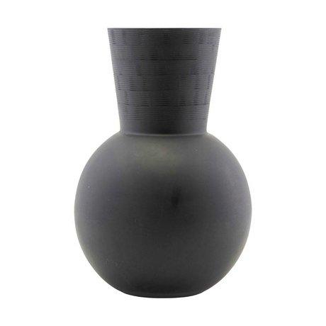 Housedoctor Vaas Noir zwart glas Ø24,5x35cm