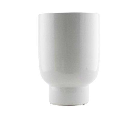 Housedoctor Cache-pot en faïence blanche Ø22x32cm