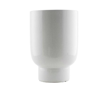 Housedoctor Plant pot white faience Ø22x32cm