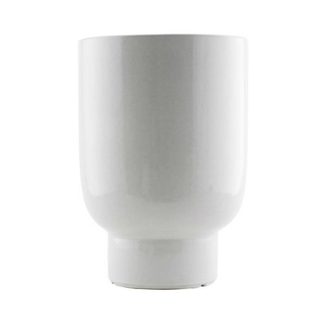 Housedoctor Plant pot white faience Ø22x32cm