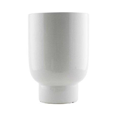 Housedoctor Plantenpot wit faience Ø22x32cm