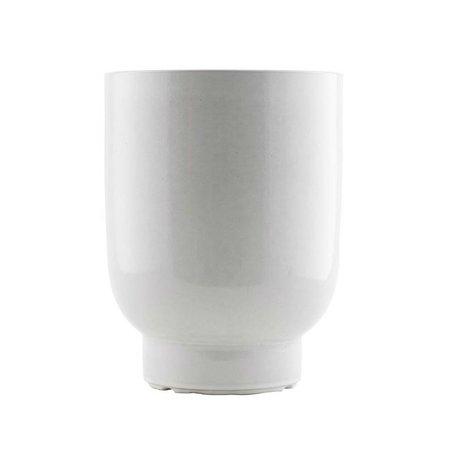 Housedoctor Plant pot white faience Ø20x26cm