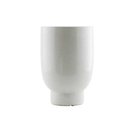 Housedoctor Plant pot white faience Ø15x22cm