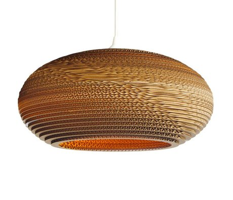 Graypants Disc 24 pendant light brown cardboard Ø61x26cm