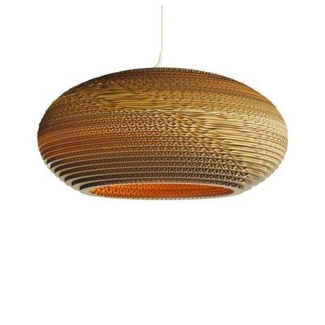 Graypants Disc 16 pendant light brown cardboard Ø43x19cm