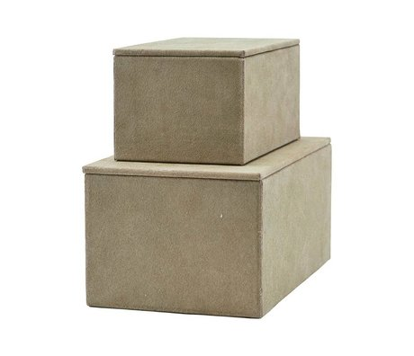 Housedoctor Storage set gray suede set of 2