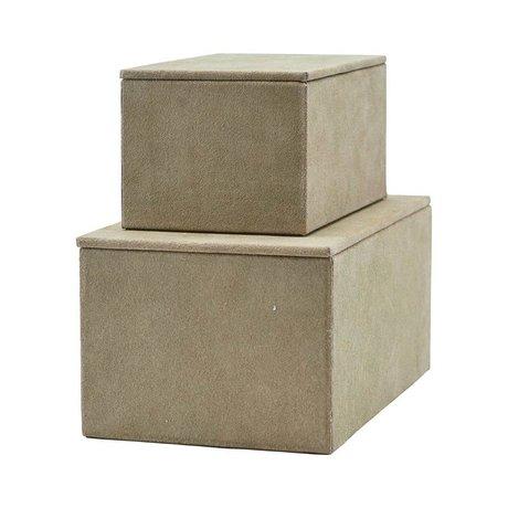 Housedoctor Aufbewahrungsset grau Wildleder 2er Set