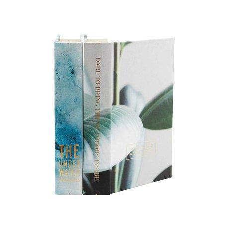 Housedoctor Opbergboek Earth multicolour MDF canvas 17x5x25cm